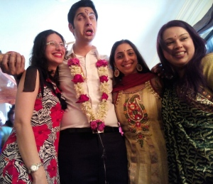 A proud moment post wedding blessing... What a smashing groom! HAHAHA