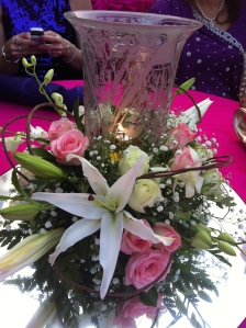 Centrepieces at the wedding!