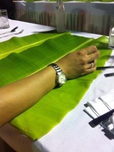 Traditional Banana leaf to serve the parsee wedding meal on!